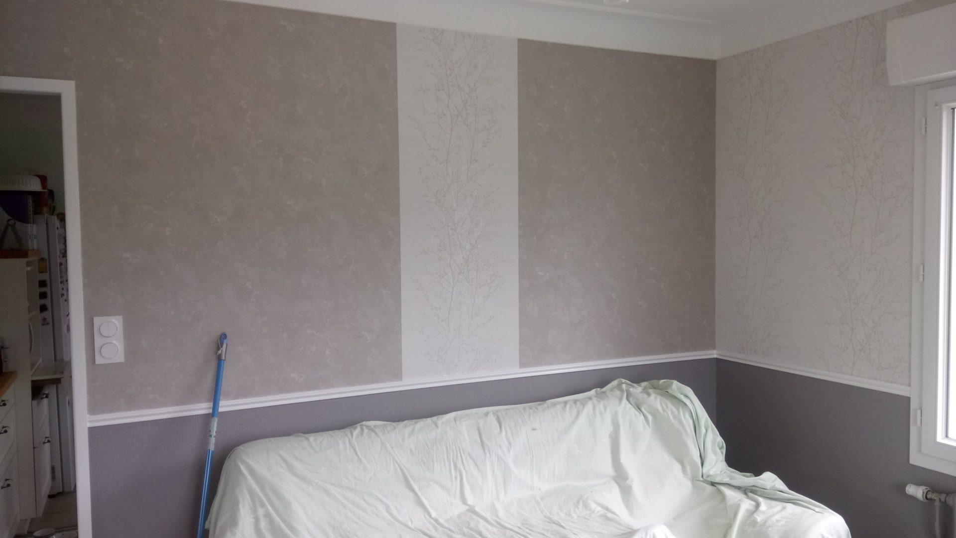 Plomelin decoration interieure papier peint intisse 1 - Décoration papier peint