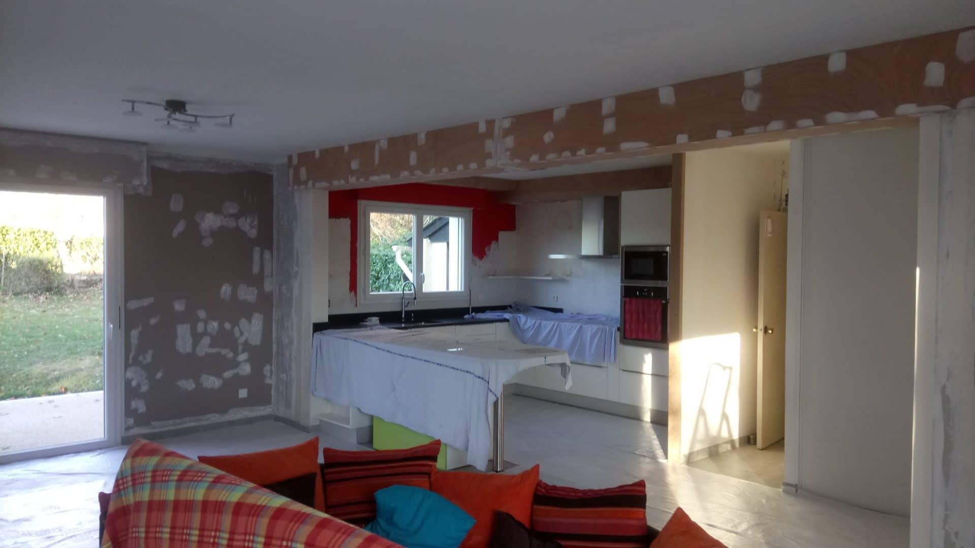 Plomelin salle salon cuisine decoration peinture 3 - Peinture décoration