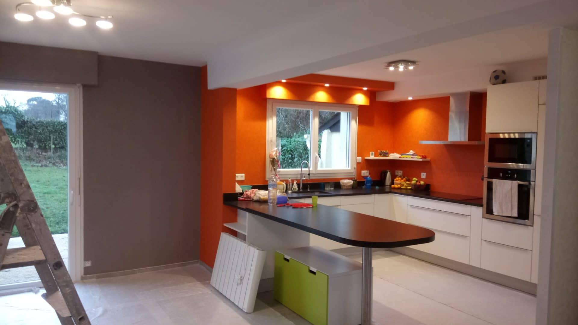 Plomelin salle salon cuisine decoration peinture 4 - Peinture décoration